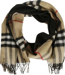 burberry giant check long double faced scarf