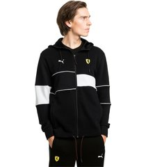 ferrari hooded zip-up herenjack, zwart/aucun, maat l | puma