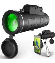 40x60 óptica hd lente brújula telescopio monocular-negro