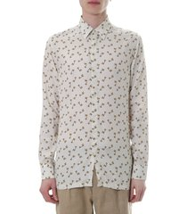 fendi chalk color shirt with all ove lamp print