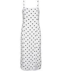 ecovero™ square-neck midi dress jurk knielengte wit banana republic