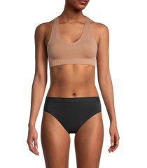 commando women's minimalist racer sports bra - cocoa - size m/l