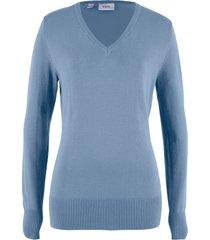 maglione con scollo a v (blu) - bpc bonprix collection