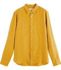 overhemd linnen oranje / oker