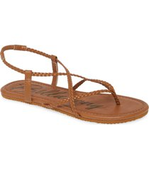 women's billabong crossing over sandal, size 7 m - brown
