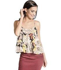 d8674879f Camisetas - Colcci - Alças Finas - Floral - 1 produtos - Jak&Jil