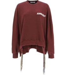 ambush oversized sweatshirt with multi drawstring