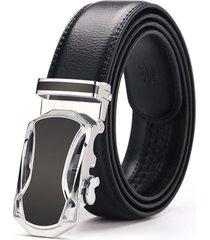 cinturón hombre de diseñado para caballero casual-negro
