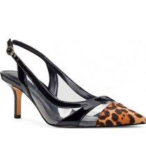 zapato ash negro leopardo mujer nine west