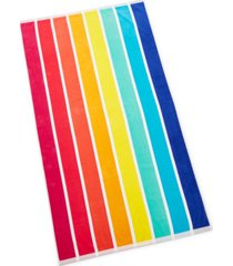 closeout! martha stewart collection vertical rainbow beach towel, created for macy's bedding
