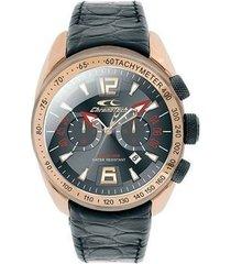relógio de pulso chronotech active crystal auto - aço dourado