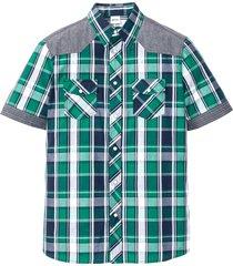 camicia a maniche corte (verde) - john baner jeanswear