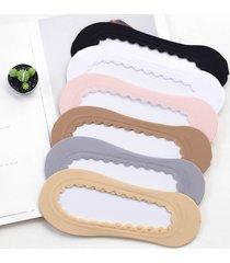 calze da barca in materiale solido invisibile traspirante elastico traspirante elastico in silicone