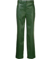 3.1 phillip lim straight-leg mid-rise trousers - green