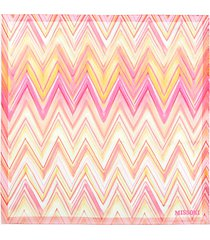 chevron silk scarf