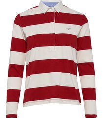 original barstripe heavy rugger ls t-shirts & tops polos rood gant