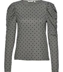 bxtusna blouse blus långärmad grå b.young