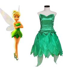 peter pan tinker bell cosplay costume girl princess dress party birthday suit