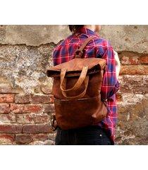 3w1 plecako - torba koniak