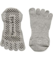 moonchild grip socks - low rise accessories sports equipment yoga equipment grå moonchild yoga wear