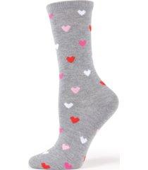 memoi women's delicate hearts crew socks