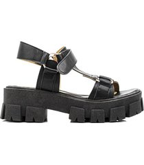 sandalia negra kandil fashon moda suela
