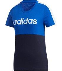camiseta adidas w e cb t-shirt azul - azul - feminino - dafiti