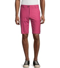 greyson men's dragonfly-print golf shorts - patriot pink - size 36