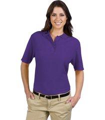 otto ladies' 5.6 oz. pique knit sport shirts purple (l)