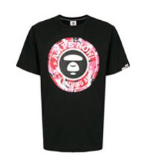 aape by *a bathing ape® camiseta mangas curtas aape now - preto