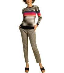 trina turk colette wool striped sweater