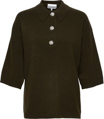 cashmere knit t-shirts & tops knitted t-shirts/tops groen ganni