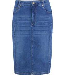 gonna in jeans con impunture modellanti (blu) - bpc bonprix collection