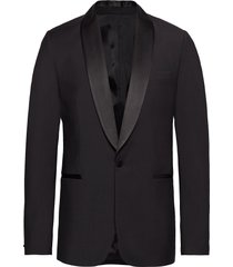 savile sc sft tux comfort wool blazer colbert zwart j. lindeberg