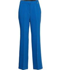 pants woven byxa med raka ben blå esprit collection