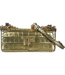 tom ford logo metallic multi chain shoulder bag
