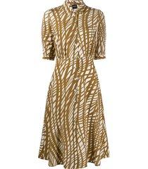 aspesi all-over print dress - brown