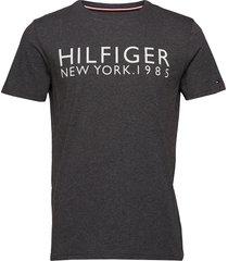 cn ss tee logo t-shirts short-sleeved grå tommy hilfiger