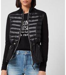 mackage women's joyce mixed padded jacket - black - m