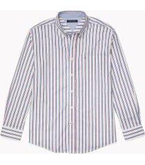 tommy hilfiger men's adaptive classic fit stripe shirt snow white/multi - s
