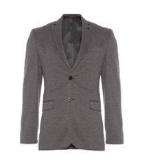 blazer masculino liso - cinza