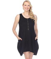 yak & yeti women's dress loose fit - black - x-large