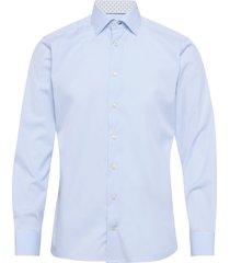 poplin shirt – micro print details overhemd business blauw eton