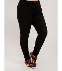 calça cambos plus size jogger sarja feminina