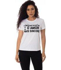 camiseta o amor mais sincero thiago brado 6027000005 branco - branco - pp - feminino