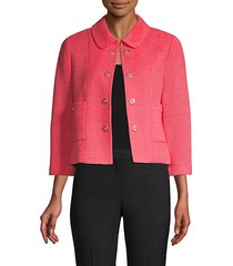 beti cropped open-front jacket
