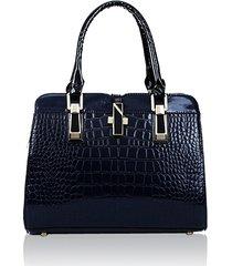 donna casual coccodrillo modello brevetto elegante borsa a spalla casual borsa