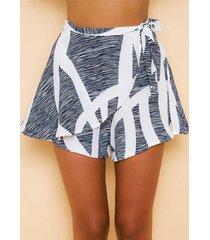 falda pantalón geométrica aleatoria patrón con lazo