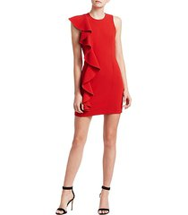 kimberlin sleeveless side ruffle mini dress
