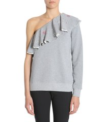 msgm one-shoulder sweatshirt